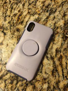 Otterbox with pop socket iPhone X