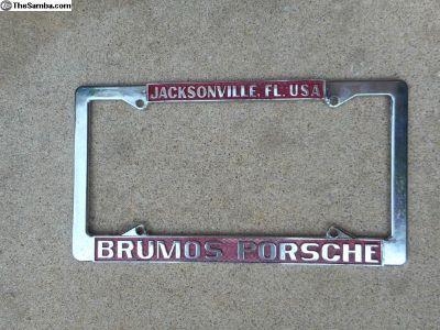 Genuine Brumos Porsche License PLate Frame