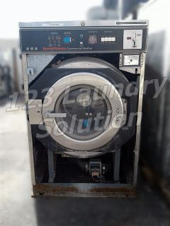 Good Condition Speed Queen Front Load Washer Timer Model 30LB 1PH SC30MD2 Stainless Steel AS-IS