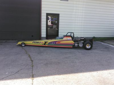 Jr dragster with a 488cc snowmobile engine