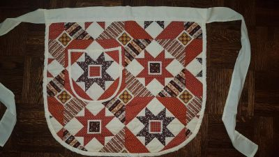 Vintage Quilt Apron with a pocket