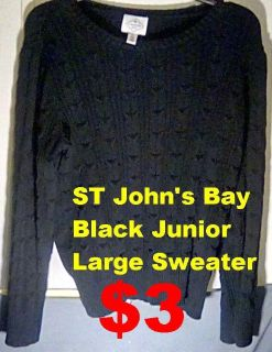 Black Junior ST John's Bay Sweater. IN PERFECT CONDITION