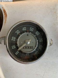 rare clear needle 90 mph speedo