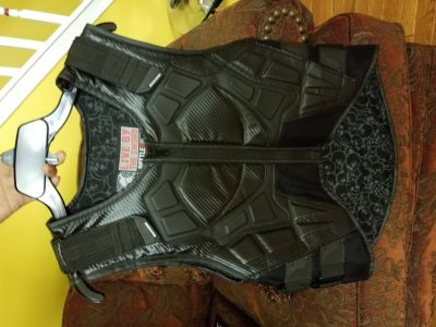 Bike vest with spine protector.