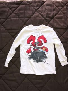 Size 8 Cute Santa Shirt with spots - Free with purchase