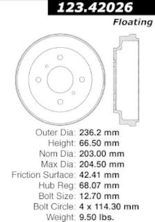 Purchase Brake Drum-C-TEK Standard Rear Centric 123.42026 motorcycle in Torrance, California, United States, for US $19.05