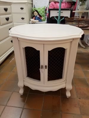 Vintage French table table cabinet $65