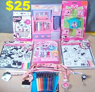 4 New Disney Minnie Mouse Items, Make-Up Kit, Melissa & Doug Vanity Set, & Much More. See Below