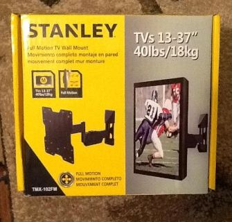 "*NEW* Stanley Full Motion Tv Wall Mount TVs 13-37"" 40lbs/18kg, TMX-102FM"