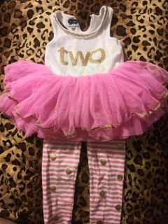 Custom made 2t outfit i paid $42