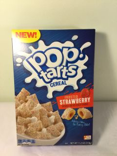 Kellogg s frosted strawberry Pop tarts cereal, expiration March 2020
