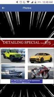 Dynamic DETAILING by Eric Daytona Beach 75$ full detail