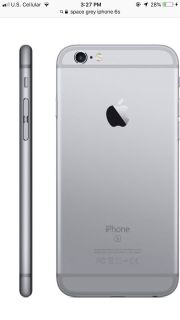 iPhone 6s silver. US cellular
