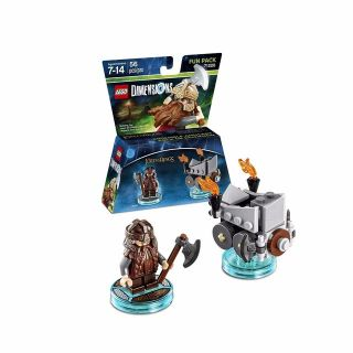 "LEGO DIMENSIONS FUN PACK #71220 ""LORD OF THE RINGS GIMLI"" & ""AXE CHARIOT"""