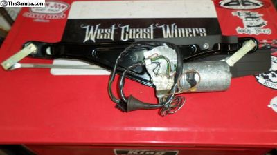 Restored super Beetle wiper unit NOS motor+pivots