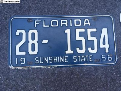 1956 Florida Tag