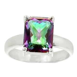 New - Rainbow Topaz 925 Sterling Silver Ring - Size 9