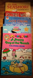 5 Coloring/Activity Books