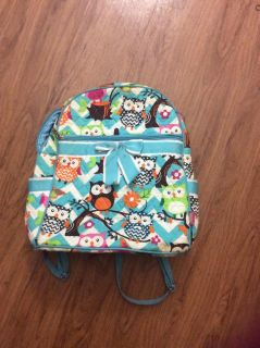 Quilted owl backpack