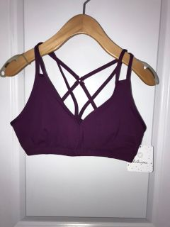 Whisper active bra in burgundy. NWT. Size M.