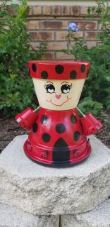 *NEW* Handpainted Ladybug Planter ~ Mother's Day Gift