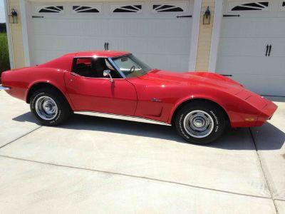 1973 Chevrolet Corvette C3 T-Tops Restored Red Beauty