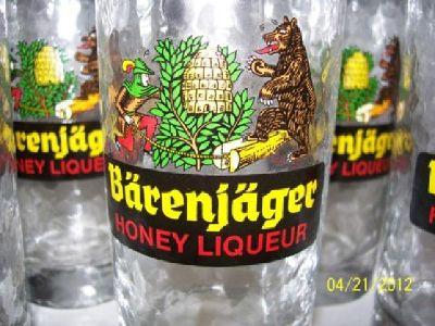 $30 6 Barenjager Honey Liqueur Glasses