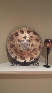 Large Decorative plate and plate stand