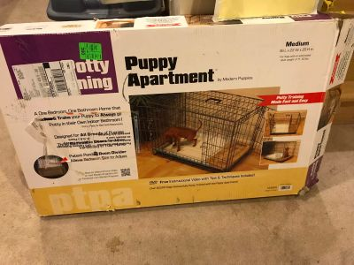 Puppy Apartment for Potty Training and to home you Puppy while you are away. Medium size 36L x 23W x 25H.