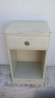Newly painted vintage nightstand