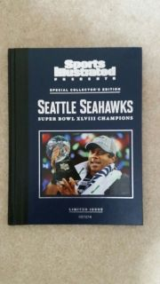 "SEATTLE SEAHAWKS XLVIII CHAMPIONS SI ""RARE"" Special Limited Edition Book *** NEW"