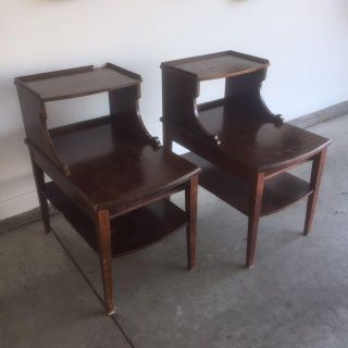 2 vintage Mersman tables. Solid wood. Missing drawers. On curb at 404 Magnolia Blvd White House. Need gone today.