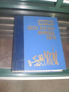 RARE OLD 1975 Motors Shop Manual US Car Auto Repair Motor Service Book
