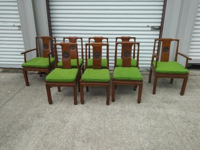 8 Chairs ( 2 with armrest )