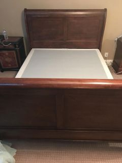 Queen bed frame and box spring