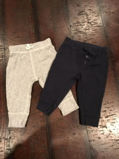 Carter s 6 month light weight pants lot (gray and navy) #2