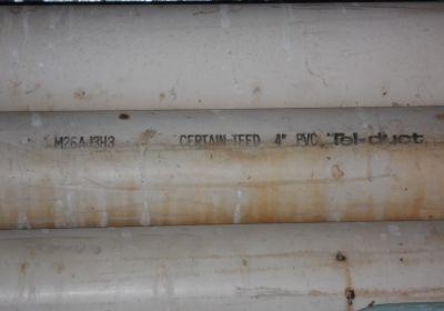 """PVC pipe, 4"""" x 20' long"""