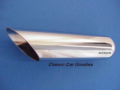 """Buy Exhaust Tip Chrome Slash Cut 2 1/4"""" x 12"""" Mustang GT motorcycle in Aurora, Colorado, US, for US $26.99"""