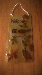 Welcome sign 14 x 7 in,