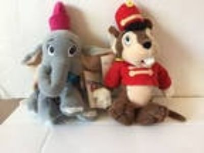 "Set of 2 Disney Dumbo & Timothy 8"" Mini Bean Bag Plush Toys"