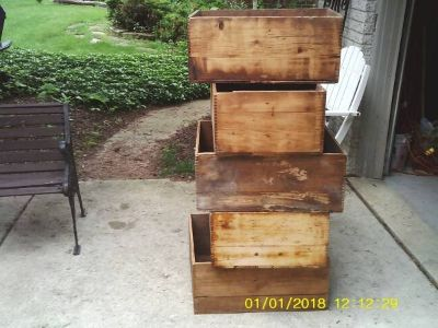 5 DYNAMITE BOXES ALL WOOD