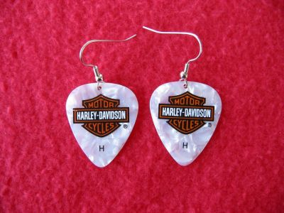 "Harley-Davidson Earrings ~ Guitar Pick Earrings Are ""Brand New"" ( 8 Pair Available )"