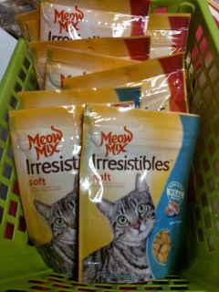 13 pkg lot of soft Meow Mix irresistibles