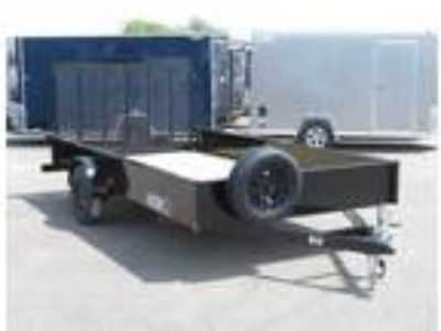 "2019 Midsota 83""x14' Solid Side Utility Trailer - Black"