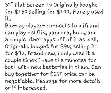 """32"""" TV and Blu-ray player"""