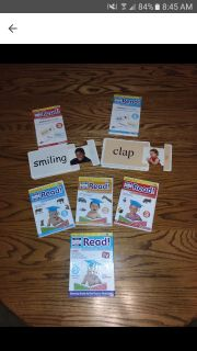My baby can read DVD and sliding cards set like new excellent condition great learning dvds