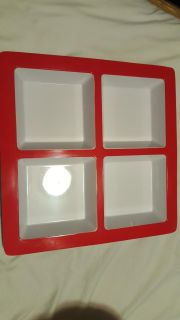 Crate & Barrel 4 section serving tray