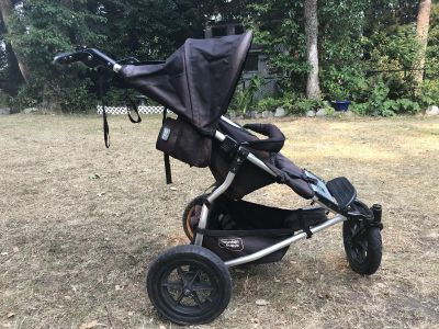 Mountain Buggy with down bunting bag and rain cover