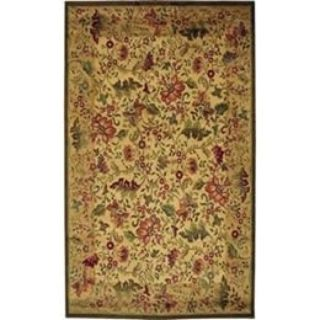Very Large Area Rug Soft and thick so will not roll up and trip you. 7ft 9in by 10ft 10in
