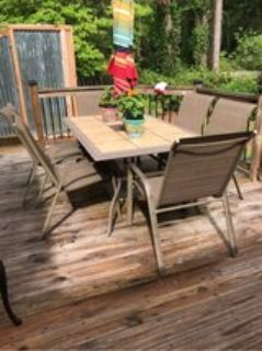 patio or deck table and chairs